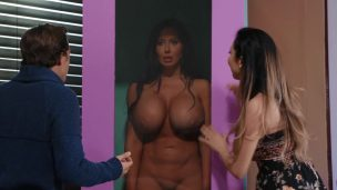 Impudent pranker jokingly fucked and finished in his beautiful neighbor Sienna Day