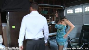 Madam angrily Fucks slave with a strap-on in ass painfully