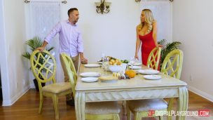 Fucked At The Dinner Table With The Blonde