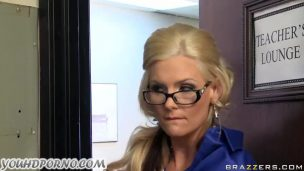 Relieved By Fucking Woman With Glasses In Office