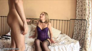 Young Man Cums In His Lover's Mouth