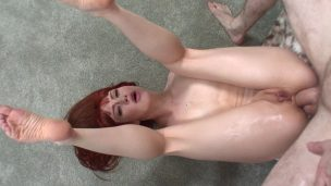 Lays Redhead Down and Fucks Ass
