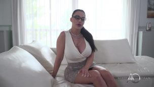 Mature Busty bitch Candy Manson practices titty fucking and pussy fucking